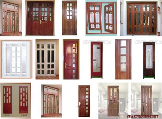 Mẫu cửa kính vân gỗ tốt nhất cho mọi nhà