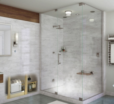 Vách ngăn phòng tắm bằng kính thêm phần tiện nghi