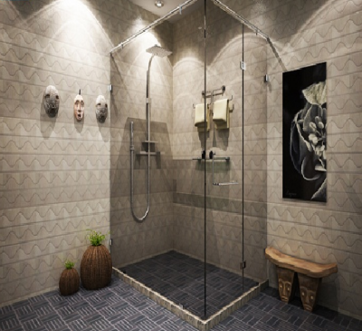 Phòng tắm kính đứng cho khách sạn